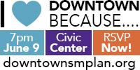 Downtown Meeting June 9 at 7 p.m. at the Civic Center. www.downtownsmplan.org
