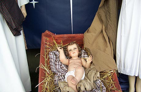 Baby Jesus in Santa Monica Nativity Display