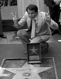 Rich Little on Hollywood Walk of Fame in 1983
