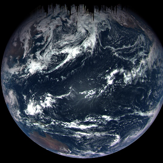 Image of Earth taken from OSIRIS-REx
