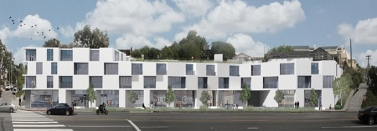 Rendering of proposed mixed-use project at 2903 Lincoln Boulevard