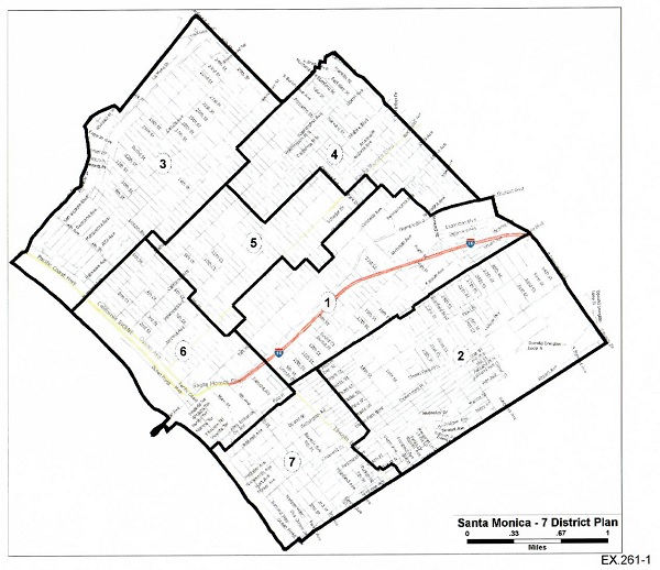 District map proposed by plaintiffs